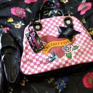 Betsy Johnson tattoo checkered purse